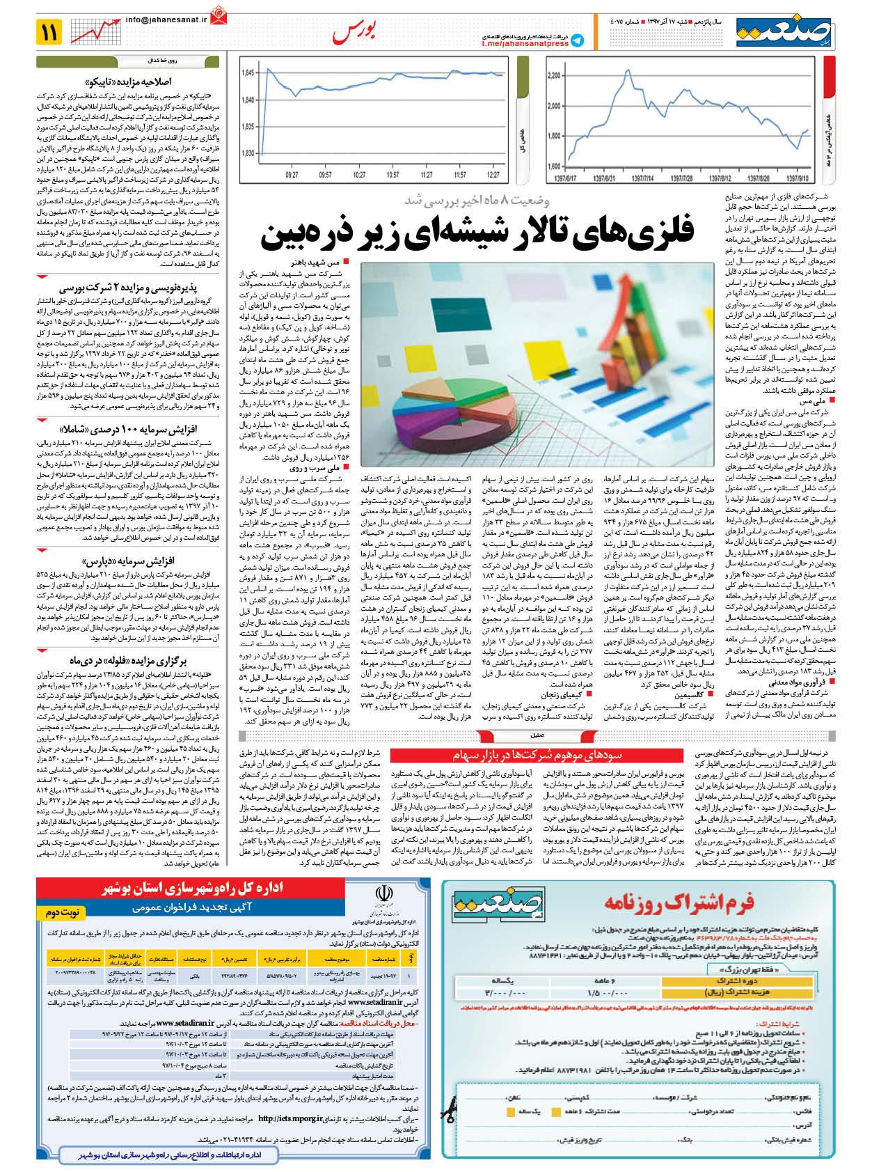 صفحه ۱۱ – ۲۴ اسفند ۱۳۹۸